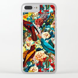 FLORAL AND BIRDS XV Clear iPhone Case
