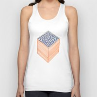 labyrinth Tank Tops featuring labyrinth by Juan Paz