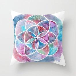 Watercolor Mandala II Throw Pillow