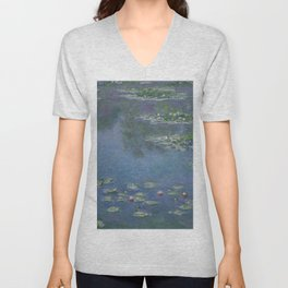 Claude Monet- Water Lilies  Unisex V-Neck