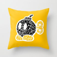 Bob Omb #CrackedOutBadGuys Throw Pillow