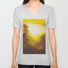 Dancing Sunset Unisex V-Neck