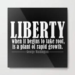 Freedom Liberty Quote George Washington Free Metal Print