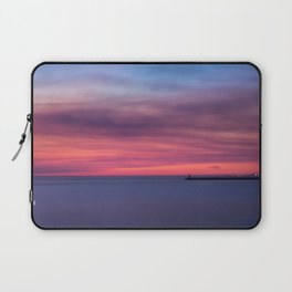 Red sunset over the ocean Laptop Sleeve