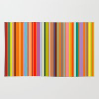 stripe Area & Throw Rugs featuring stripe by Kurt Cyr
