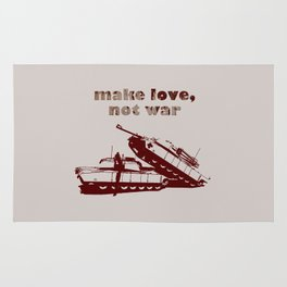 Make love, not war! Rug