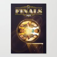 nba Canvas Prints featuring NBA Finals 2015 by Davide Barco