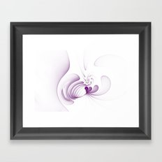 Purple Swirls Framed Art Print