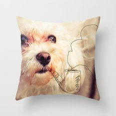 old dog Throw Pillow