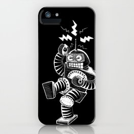 ELECTRIC! (Air-Guitaring Robot) iPhone Case