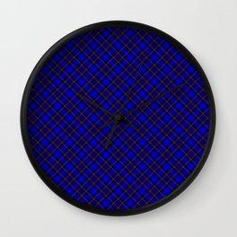 Scottish Fabric Blue High Resolution Wall Clock