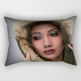 Woman portrait Rectangular Pillow