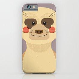 Meerkat, Animal Portrait iPhone Case