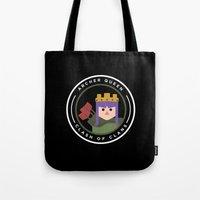 archer Tote Bags featuring Archer Queen by chiams