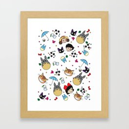 All my neighbors. Framed Art Print