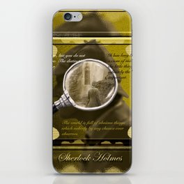 Searching for Holmes iPhone Skin