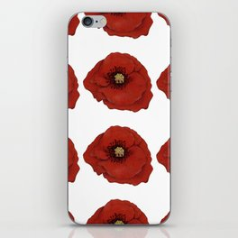 I Adore Poppies iPhone Skin