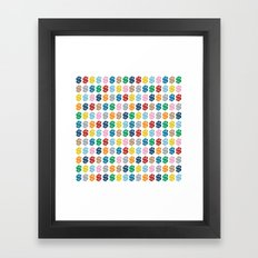 Colourful Money Repeat Framed Art Print