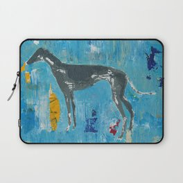 Greyhound Dog Abstract Painting Laptop Sleeve