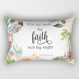 2 Corinthians 5:7 - Faith Rectangular Pillow
