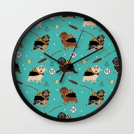 dachshund witch wizard magic wiener dog gifts Wall Clock