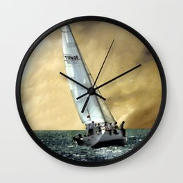 sailing team  Wall Clock