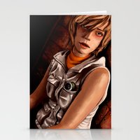 silent hill Stationery Cards featuring Heather Mason - Silent Hill 3 by JeyJey Artworks
