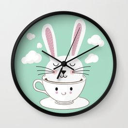 Take a Cup of Bunny Wall Clock