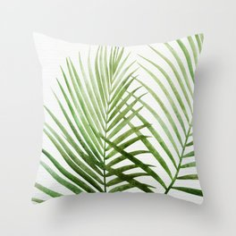 Fresh Palm Fronds Throw Pillow