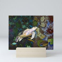 The Kemp's Ridley Sea Turtle Mini Art Print