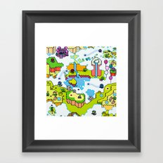Super Sky World Framed Art Print