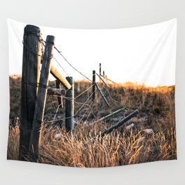 Fence in Color Wall Tapestry
