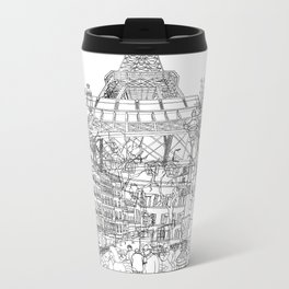 Paris B&W (Dark T-shirt version) Metal Travel Mug