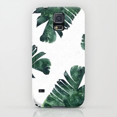Banana Leaf Watercolor Pattern #society6 Slim Case Galaxy S5