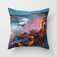 hawaii Throw Pillows featuring Hawaii by Desiree Shumovic