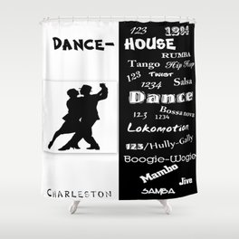 dance house Shower Curtain