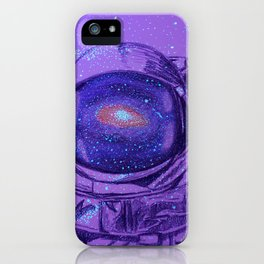 Astronaut in Space iPhone Case