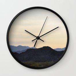 mountains of joshua tree Wall Clock