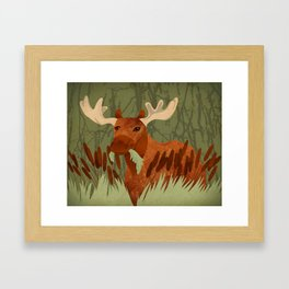 Moose Munch Framed Art Print