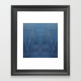 Round and About Blue Gray Framed Art Print