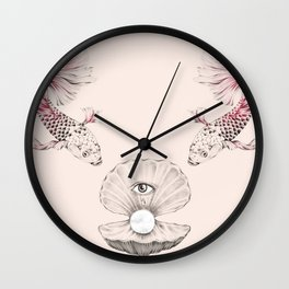 Pearl and Tear Wall Clock