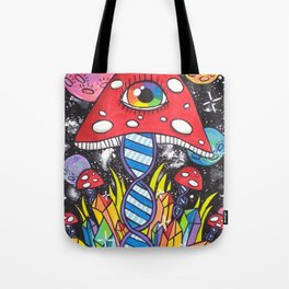 Psychedelic DNA Tote Bag