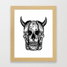 Hannya Skull Framed Art Print