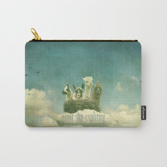 NEVER STOP EXPLORING THE CLOUDS Carry-All Pouch