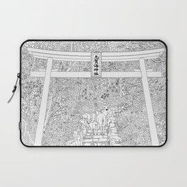 Shikaumi Shrine in Japan - Line Art Laptop Sleeve