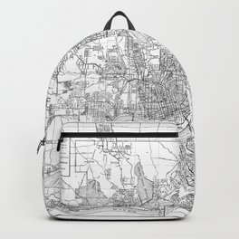 Vintage Map of Cincinnati Ohio (1915) BW Backpack
