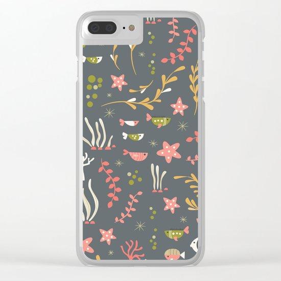 Sea creatures 007 Clear iPhone Case