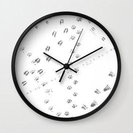 Animal Tracks of North America Wall Clock