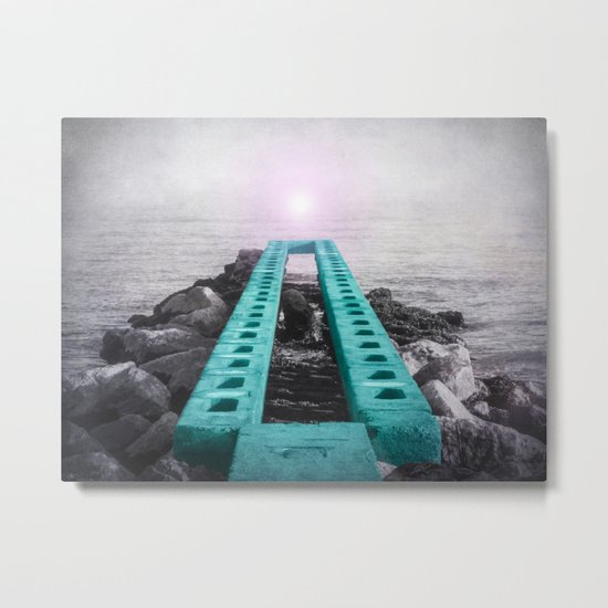 BRIDGE OVER SILENT WATER Metal Print