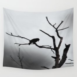 Solitary Crow Wall Tapestry